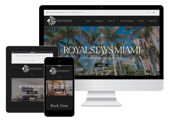 Royal Stays Miami website