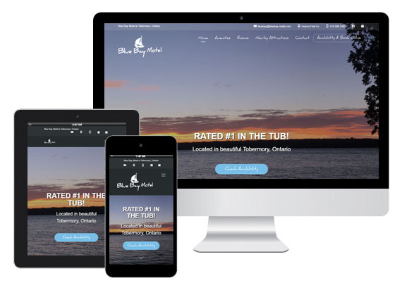 Blue Bay Motel responsive design