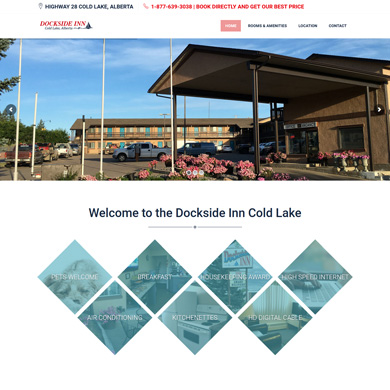 Dockside Inn website screen capture