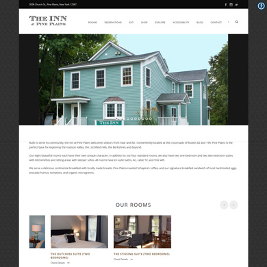 The Inn at Pine Plains website screen capture