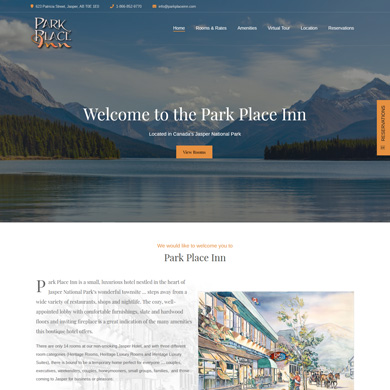 Park Place Inn website screen capture