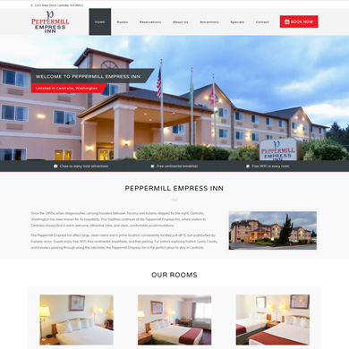 Peppermill Inn website screen capture