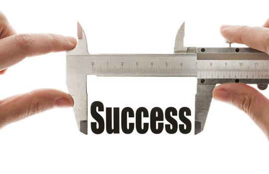 A caliper measuring success