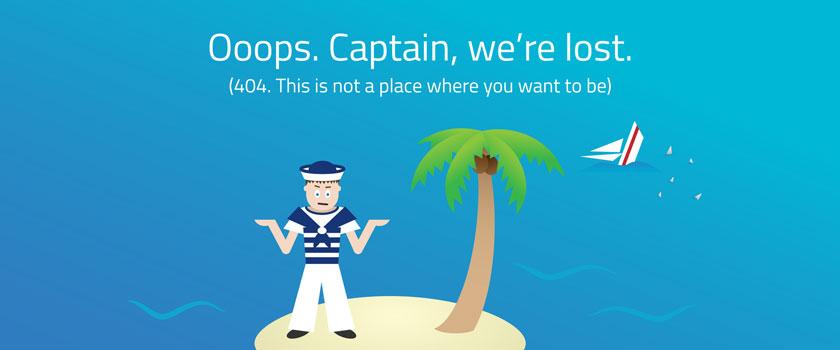 Ooops, Captain. We're lost.
