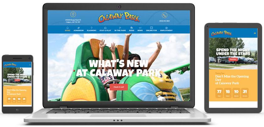 Calaway Park responsive screen capture